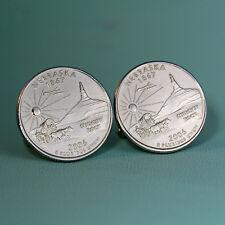 2006 Nebraska State Quarter Dollar Coin Cufflinks, Chimney Rock, Tie Tack