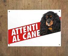 CAVALIER KING CHARLES SPANIEL 2 Attenti al cane Targa cartello metallo