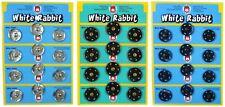 No8 21 mm, White Rabbit Metal Snap Fasteners, Choose Col & QTY, ref 11-12000.8