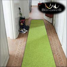 Pas Cher Tapis Couloir Moderne Vert Largeur 80 90 100 Feltback
