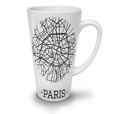 MAPPA di Parigi ALLA MODA NUOVO White Tea Tazza Da Caffè Latte Macchiato 12 17 OZ | wellcoda