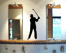 Wandtattoo Golfspieler Abschlag Wandsticker 25 Farben 8 Größen Wandaufkleber
