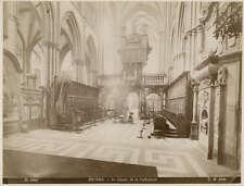 Albumen Print Bruges Cathedral Interior Gustave Hermans 1880s Photograph