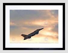 Military Air Plane Fighter Jet F16I Storm Israel Viper B12X3497 impresión arte enmarcado