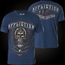 Affliction T-Shirt Coyote Motors Blau