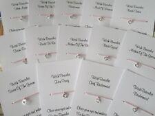 Hen Party Wish Bracelet Message Friendship Gift Pink Anklet Bride Bridesmaid*