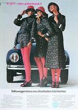 Publicite VW COCCINELLE COX BETTLE VOLKWAGEN 1974 FRENCH CAR AD PUB