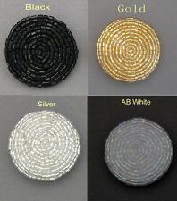 2 pcs extra large perles dôme bouton #3 taille: 50L en noir, argent, ab, or