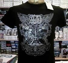 T-shirt maglia uomo Angel Devil con stampa argentata e borchiette art 14010015
