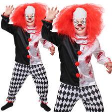 CHILDS EVIL KILLER CLOWN COSTUME BOYS HORROR SLASHER HALLOWEEN FANCY DRESS