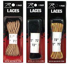 "72"" Long Workboot Shoe Laces - Nylon-Desert Tan, Black, Tan Boot Lace - 1 Pair"