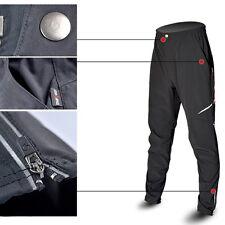Cycling Pants Bike Bicycle Men's Long Pants Reflective Riding Trousers Black NEW