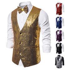 Men Stage Costume Small Sequin Vest Photo Studio Photo Host Ceremony Vest gems