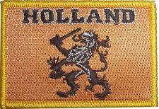 Holland Löwe oranje Fussball Aufnäher Patches Aufbügler 8 x 5,5cm Fahne Flagge