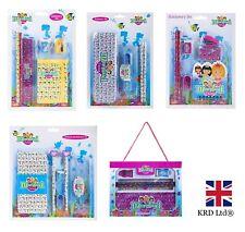 MERMAID SCHOOL STATIONARY Party Bag Filler Pen Kids Birthday Girls Gift Box UK
