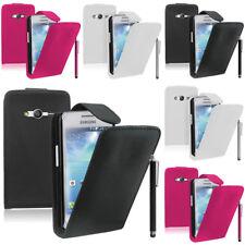 Piel Artificial Funda protectora de móvil con tapa para Samsung Galaxy Ace 4