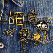 Cute Enamel Brooch Pins Shirt Collar Lapel Pin Necktie Clip Women Jewelry Gift