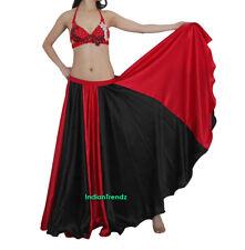 Black & Red 360 Full Circle Gypsy Skirt 12 Yard Belly Dance Flamenco