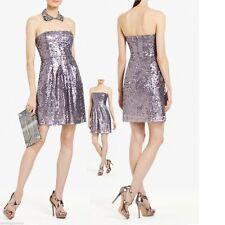 $258 BCBG Maxazria Carole Lilac Mist Metallic All Over Sequin Strapless Dress 2