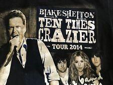 BLAKE SHELTON TEN TIMES CRAZIER TOUR 2014 T-SHIRT - Small Black