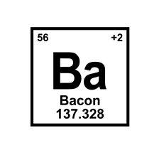 Bacon Love Element Decal Window Bumper Sticker Car Decor Periodic Table Science
