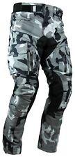 Heyberry Motorrad Hose camouflage weiß mit Oberschenkeltaschen Gr. M - 7XL