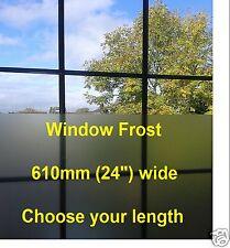 Film teinte fenêtre Givré Etch verre givre 610 mm large sticky back PLASTIQUE S / ADH