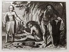 Yoga Yogi Indien Original-Kupferstich Leiden 1715 Pieter van der Aa Indien India