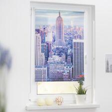 Lichtblick Rollo Klemmfix, ohne Bohren, blickdicht, New York - Farbe blau