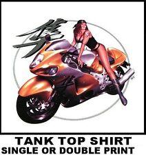JAPANESE SPORT BIKE WORDS SEXY BIKER GIRL MOTORCYCLE RIDER TANK TOP SHIRT XT61