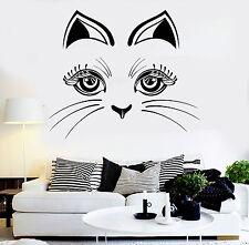 Vinyl Wall Decal Cat Kitten Face Pet Animal Stickers Mural (ig3785)