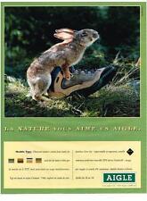 PUBLICITE   1997    AIGLE    chaussures bottes