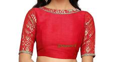 Readymade Saree Blouse,Designer Sari Blouse,Indian Blouse, Red Party Wear Top