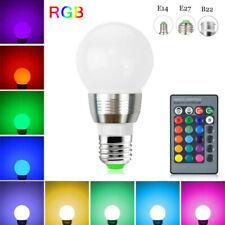 B22 E14 E27 RGB LED Light Bulb 3W 16 Colour Change Lamp Decor+ Remote Control LM