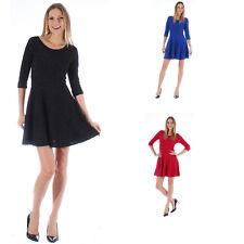 Ladies Mini Bodycon Peplum Sparkle Dress Aline Top Casual Midi Size 8 10 12 14 S