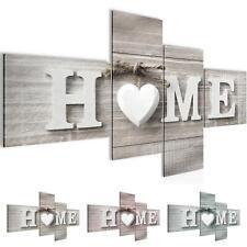 Bild Bilder Wandbild XXL - Home Herz - Kunstdruck Leinwand aus Vlies -  Wanddeko