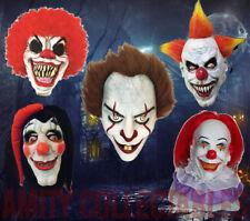 Máscara de Látex Scary Clown overhead de terror para fiesta de Halloween de lujo para adultos [elegir]