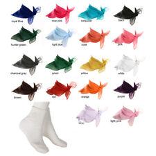 White Bobby Socks & Sheer Chiffon Scarf - 18 Colors - 50s Retro Set at Hey Viv !