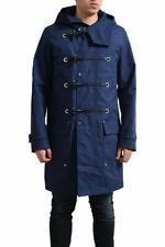 Dior Men's Marine Blue Full Zip Trench Coat US S M