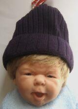 DOLLI VON DÖLL Babymütze Kindermütze in Dunkellila Strick