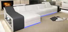 Leder Sofa Couch Eck Polster Garnitur XXL Wohnlandschaft Couchen Sofas  B2017B