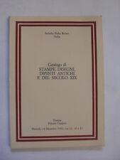 SOTHEBY ITALIA - CATALOGO STAMPE DISEGNI DIPINTI SEC XIX - FIRENZE 14 DIC 1982