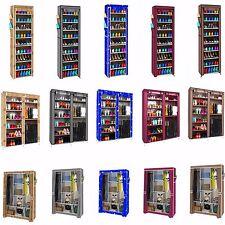 Super Portable Closet Rack Shelf Storage Clothes Shoes Organizer Cabinet-3 Style