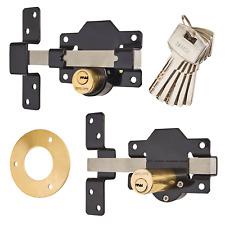 Gatemate Security Garden Shed Gate Lock Long Throw Locking Bolt Double Locking