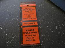 Western Union ILL-MO Cigar Store Hannibal MO Ph 782 vintage matchbook