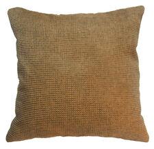 Qe03a Light Brown Rough Cotton Blend Sofa Cushion Cover/Pillow Case*Custom Size*