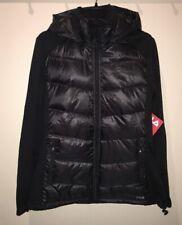 FILA Fan Favorite Black Puffer Removable Hood Coat Jacket NEW Jrs Sz M L XL