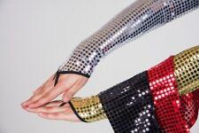 FM - Kostüm Zubehör fingerlose Pailletten Handschuhe