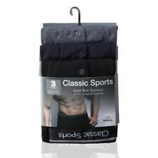 Men's Boxer Shorts 3 Pack Classic Sports Matching Elastic Boxer Trunks underwear