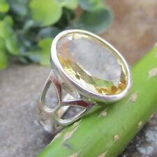 Citrine November Birthstone Sterling Solid Silver Ring Gemstone - ALL SIZES
